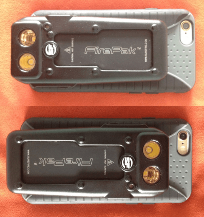 SureFire video light and mobile case