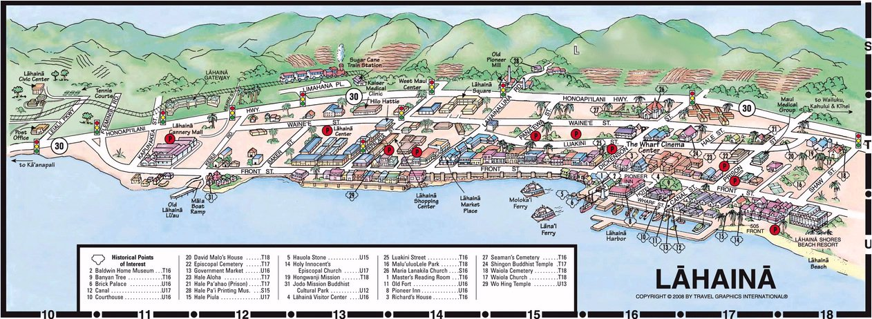 Map Layout Lahaina Shores Beach Resort