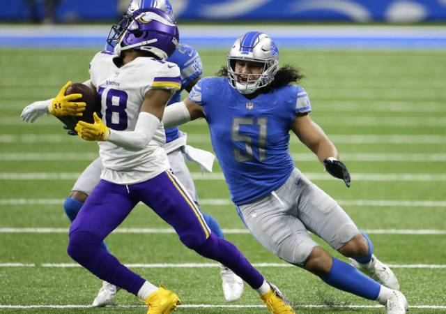Hawaii alum Jahlani Tavai makes gains with Lions after cutting weight