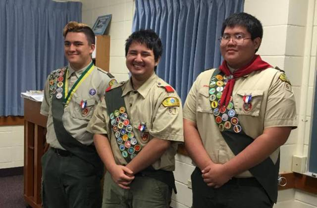 Three named Eagle Scouts