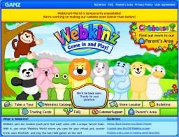Webkinz Closed