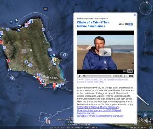 Google Earth Oceans Layer