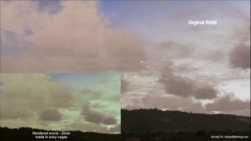 UFO Over Oahu - Raw vs. Rendered