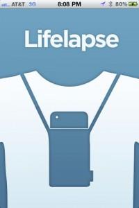 Lifelapse Startup Screen