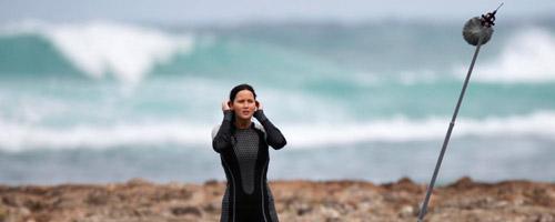 Catching Fire On Set - Katniss-Peeta.com