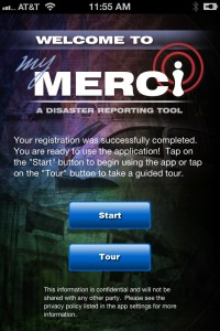 MyMERCI Disaster Reporting Tool