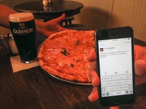 Paying for Pizza with DogeCoins | Courtesy Eric Nakagawa