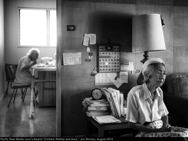 "Pacific New Media Juror's Award:""Untitled, Mother and Aunt,"" Jon Shimizu, August 2014"