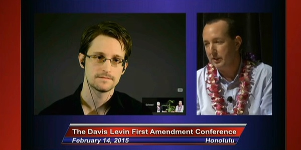 Edward Snowden at ACLU Hawaii Event on Olelo
