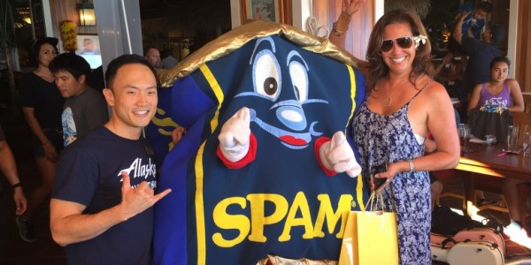 Prize Winner with Spam Guy