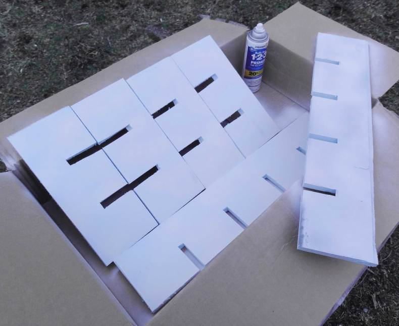 Painting your homemade Drawer Dividers -Hawk-Hill.com