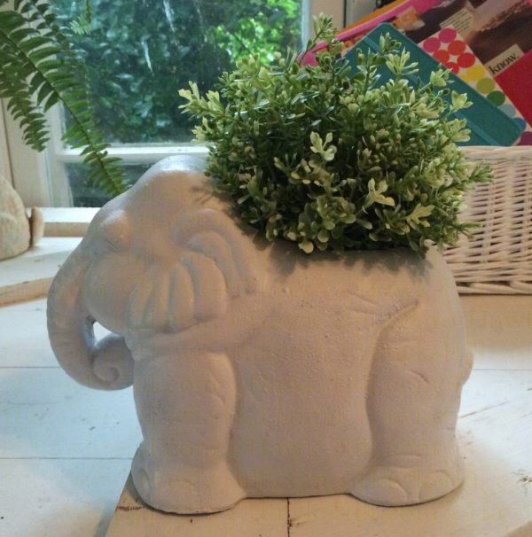 hacking Ikea's potted herb plants - Vintage White Elephant Planter