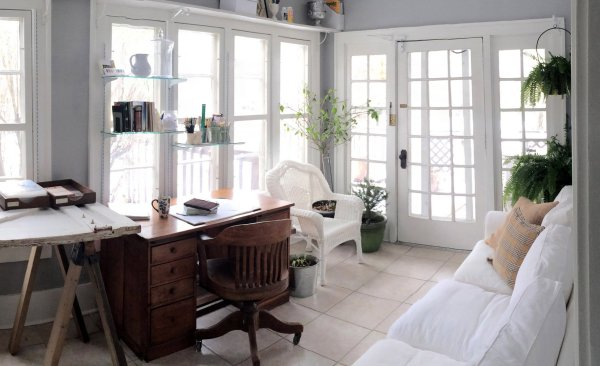 decorating a long and narrow sunroom