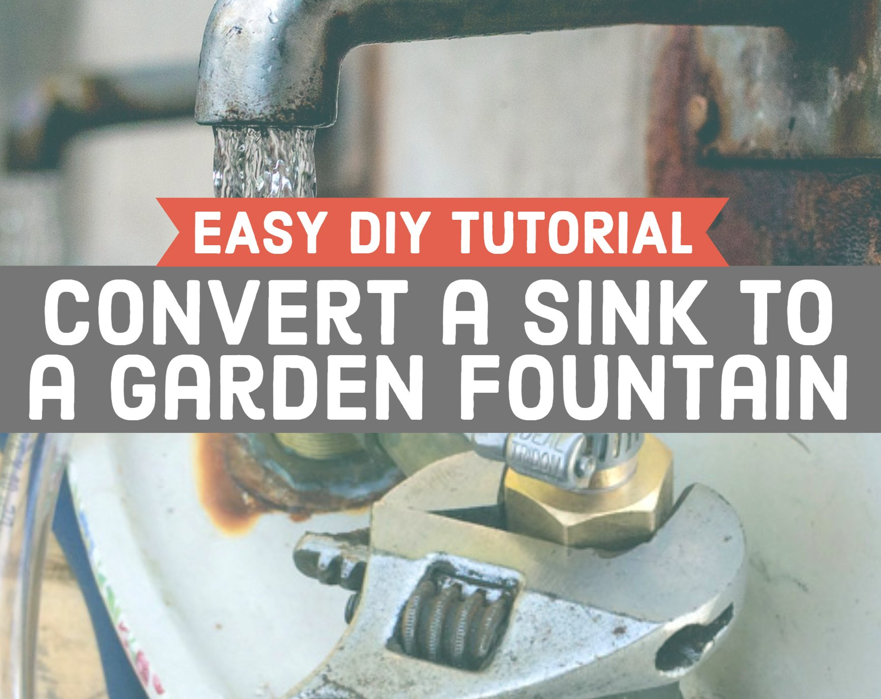Diy Garden Fountain From Upcycled Sink Hawk Hill