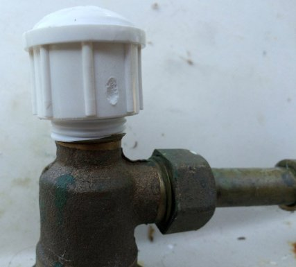 how to convert a faucet into a fountain water feature for your garden 039