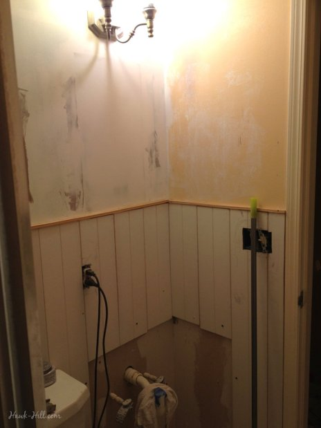 $300 Bathroom Renovation - featuring Paneling over Existing Tile
