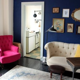 Erin Sofa in 280 Square Foot Studio Apartment in Belltown Seattle