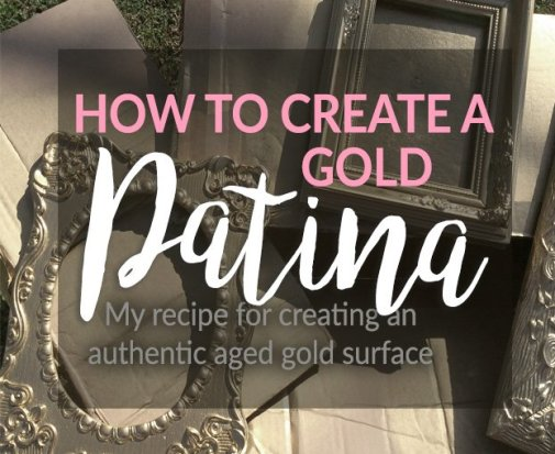 My method for creating an authentic antique gold patina on thrift store frames, metal objects, and even period costume props