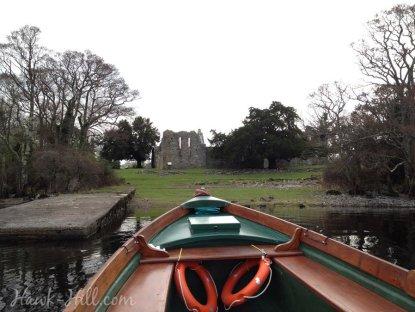 Arriving by boat to Innisfallen Island in Ireland