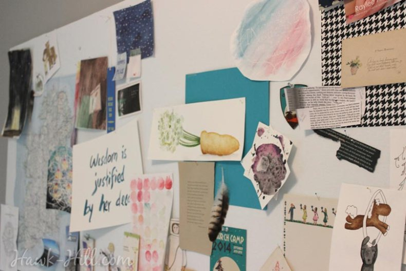 my real art studio idea pinboard 0