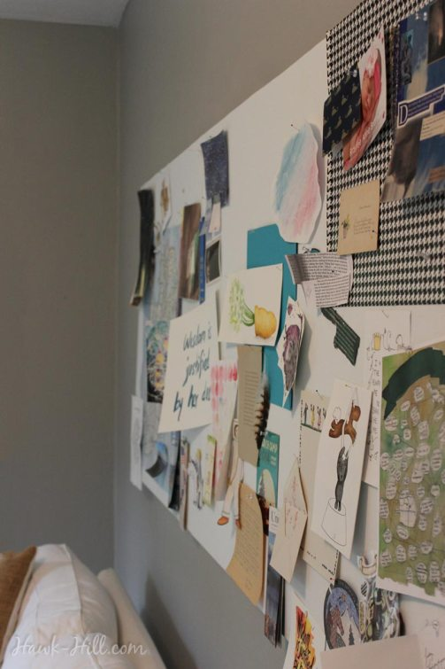 my real art studio idea pinboard 3