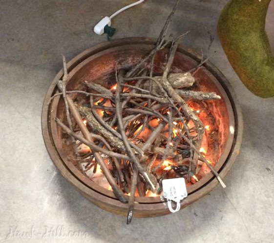 How to make a realistic indoor campfire decoration