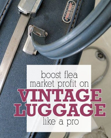 tips on selling vintage luggage in a flea market booth