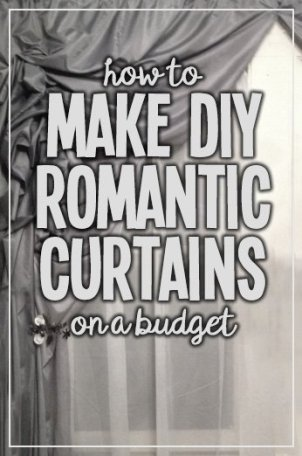 Simple instructions on making luxurious ruffled curtains on the cheap