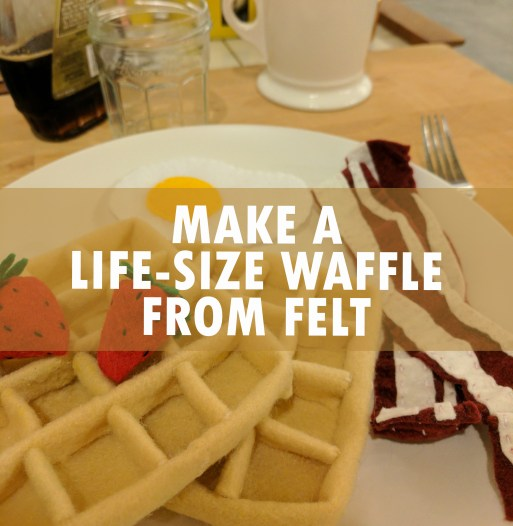 Make your own felt food waffle