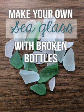 Make your own sea glass for art or decoration with this easy tutorial that uses glass reclaimed from recycling bins