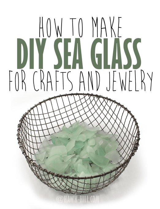 step by step instructions for making your own sea glass from recycled glass