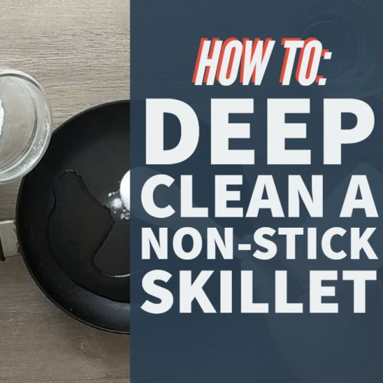 cleaning a non-stick pan