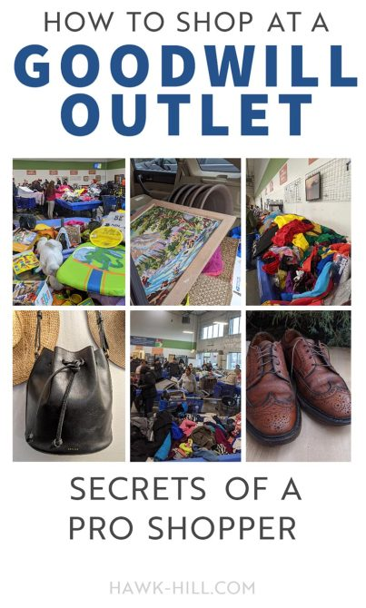 Vintage goods and name brand items for pennies- Goodwill Outlet has the best deals anywhere IF you know how to find them.