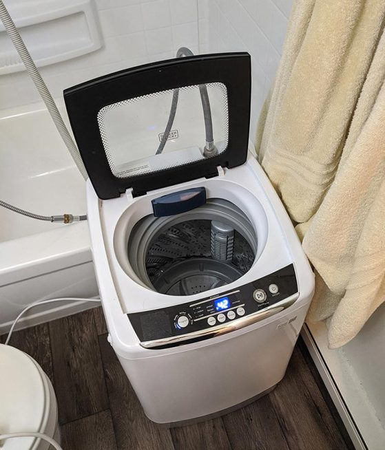It's worth investing in a one-drum washer for convenience.