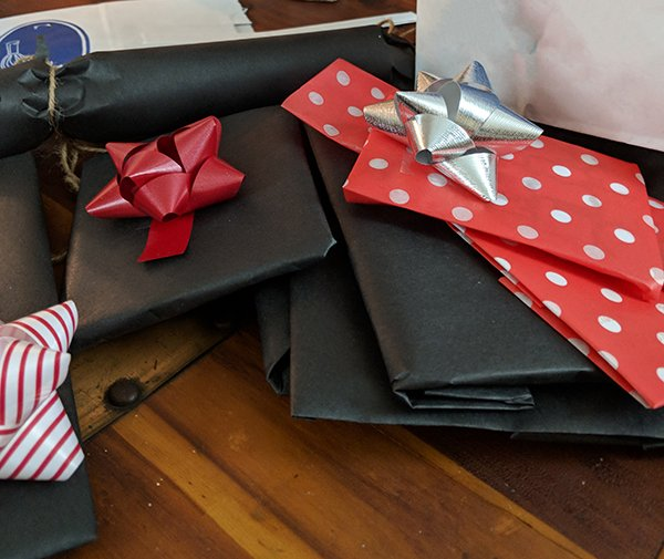 Leave gifts with a friend to distribute at the right times