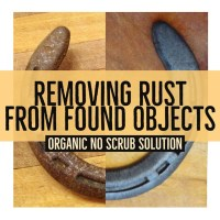 Removing Rust from Found Objects without Scrubbing