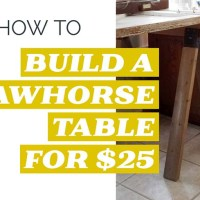 Instructions for Building a Stylish DIY Sawhorse Table for $25