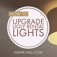 A DIY Hack for Fixing Ugly Light Fixtures in Rental Housing