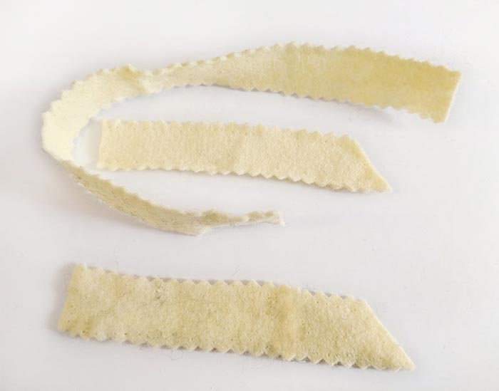 making felt french fries