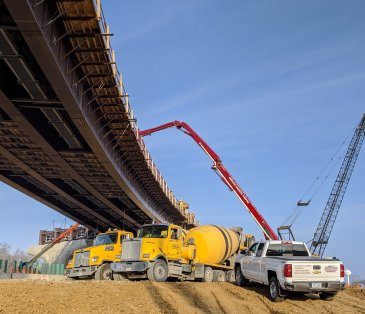 interstate 380 commercial concrete project