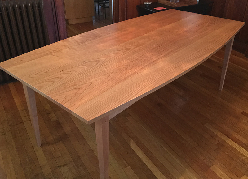 Handmade Shaker Bow Shaped Cherry Dining Table Made In