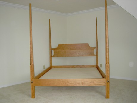 shaker cherry pencil post bed four