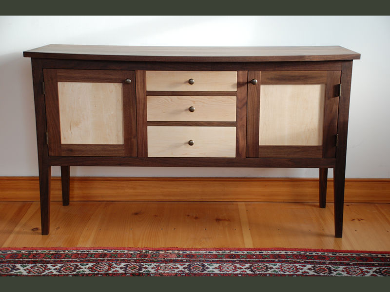 Handmade Maple Amp Walnut Shaker Sideboard Custom Made In