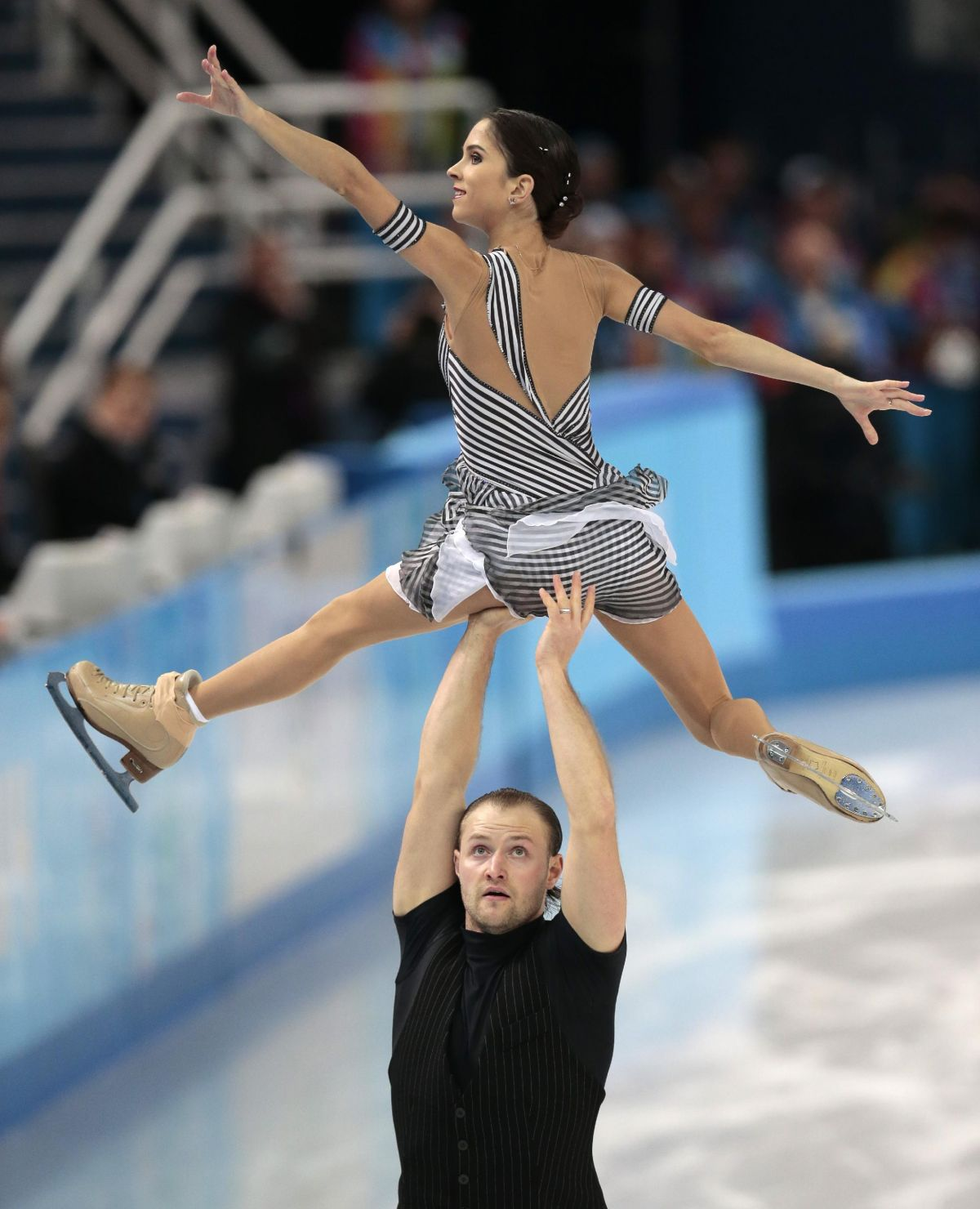 Vera Bazarova And Yuri Larionov At Winter Olympics In Sochi