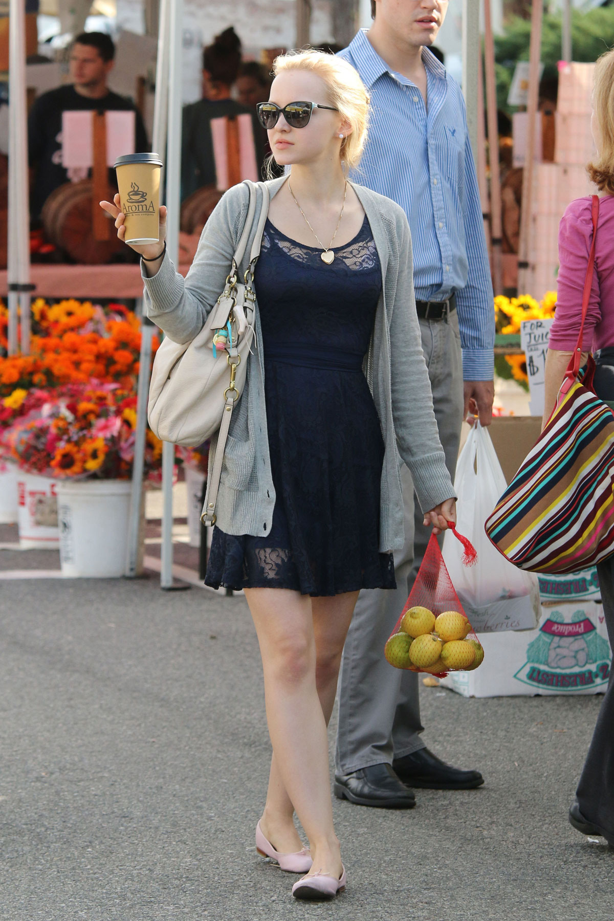 DOVE CAMERON Shopping At Farmers Market In Los Angeles HawtCelebs