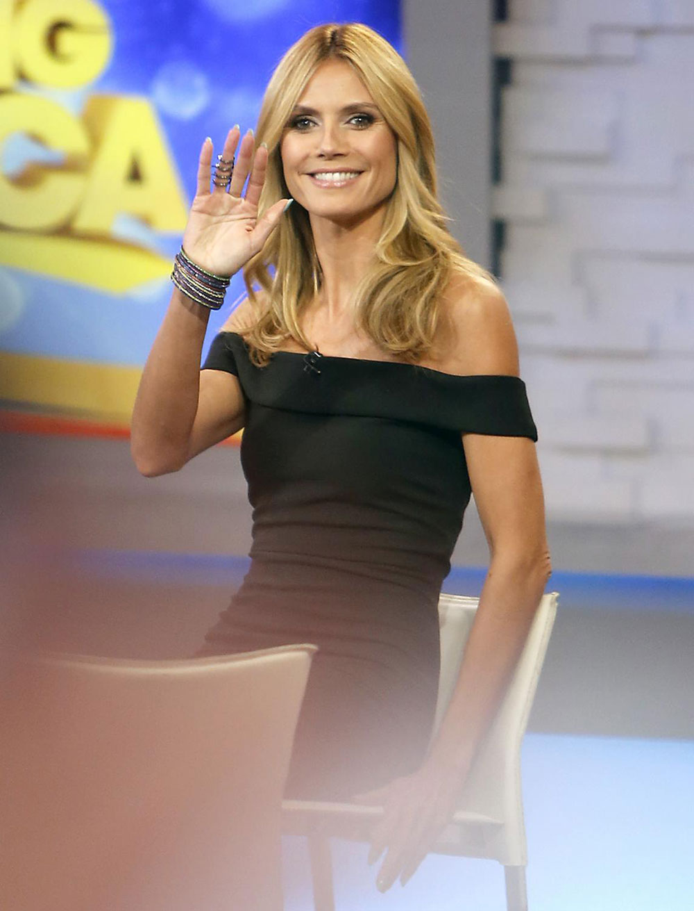 HEIDI KLUM On The Set Of Good Morning America HawtCelebs