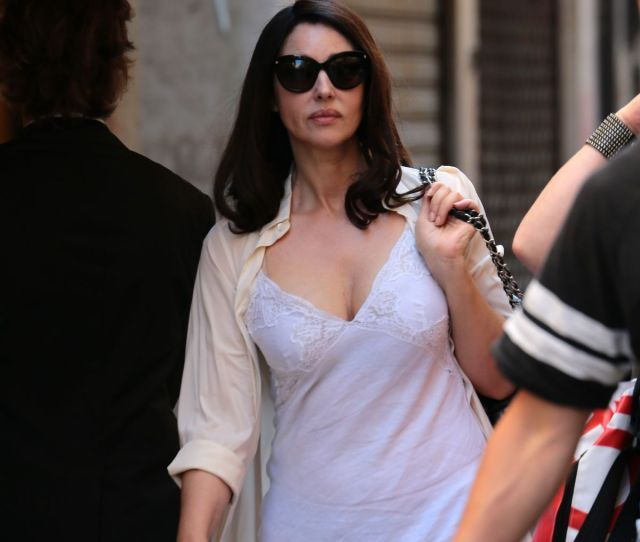 Monica Bellucci On The Set Of Amazons Mozart In The Jungle In Venice