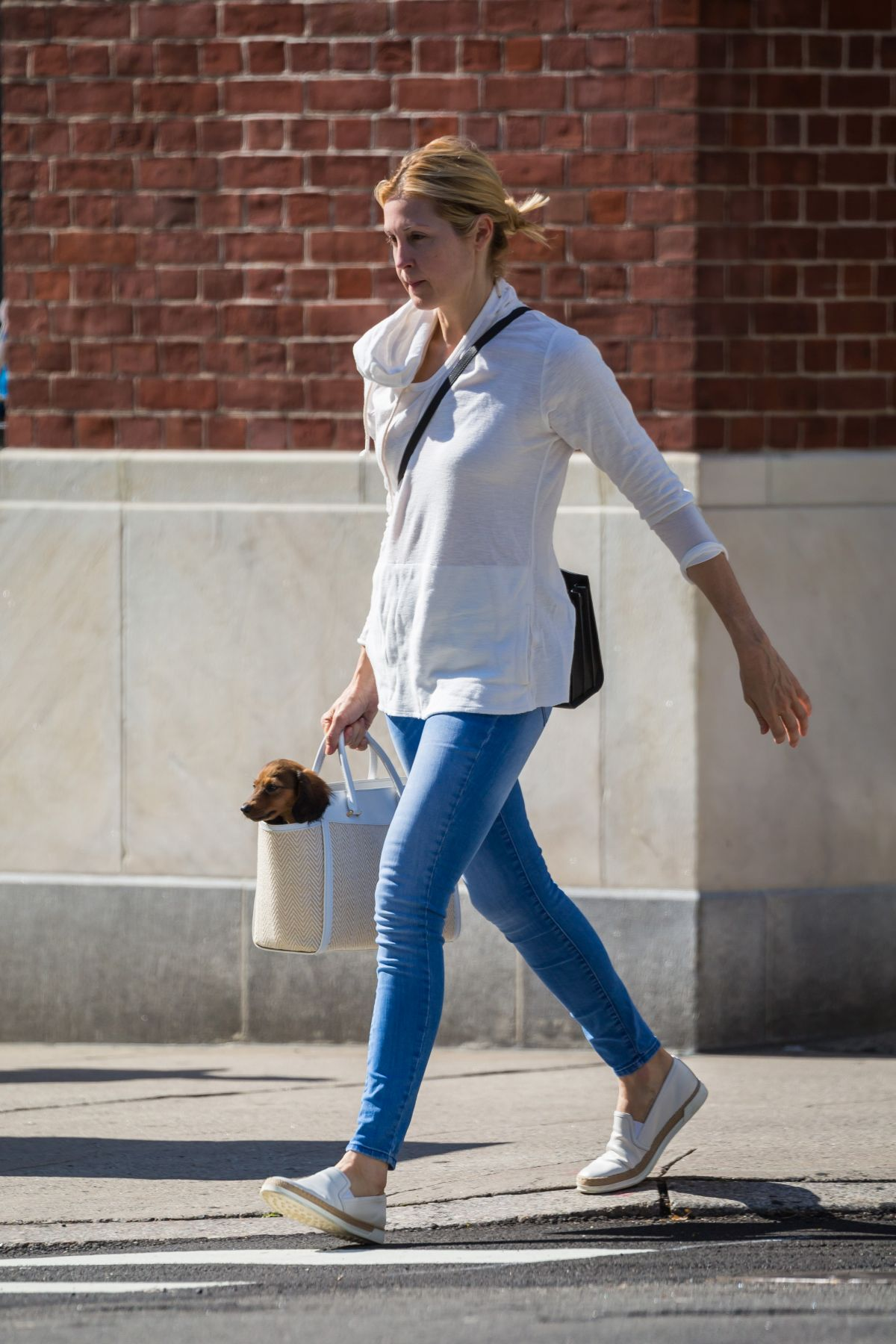 KELLY RUTHERFORD Out With Her Dog In New York 08162017