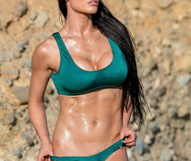 Natalie Eva Marie In Bikini On The Set Of A Photoshoot On Laguna Beach