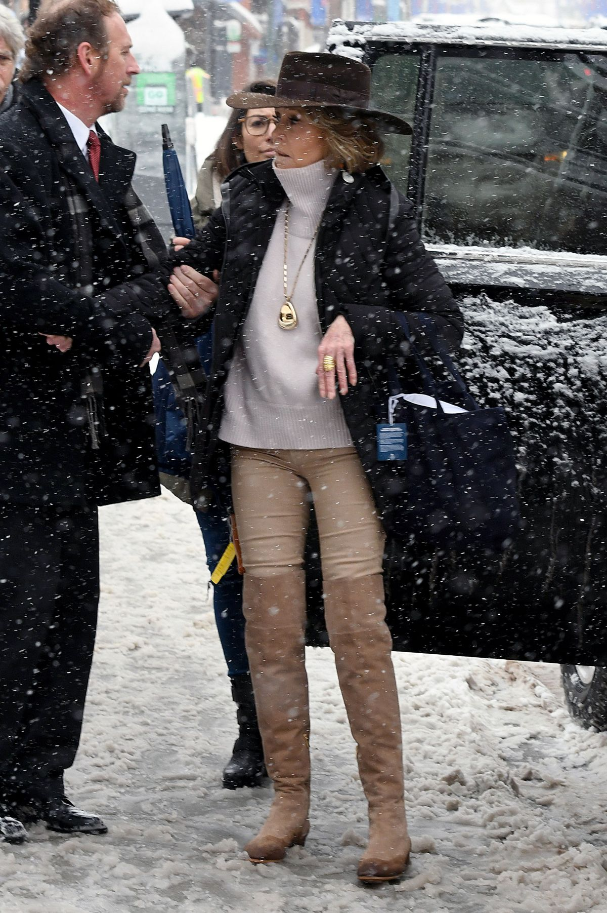 JANE FONDA Out At Sundance Film Festival 01202018 HawtCelebs